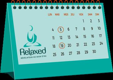 Icone calendrier pour abonnement - Relaxed.paris