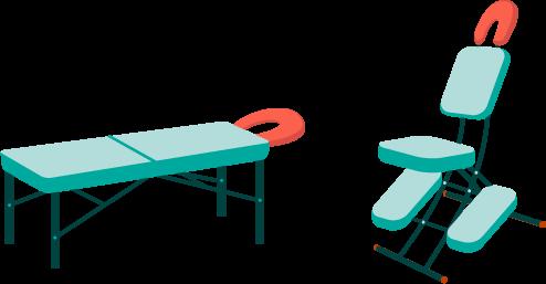 Icone pour Massages sur table et sur chaise ergonomique - Relaxed.paris
